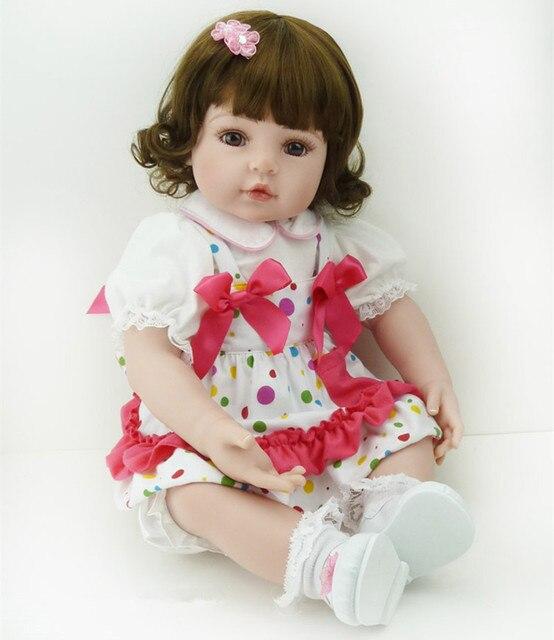 """New 22"""" Adora Toddler Doll Bebe Reborn Girls Brown Hair"""