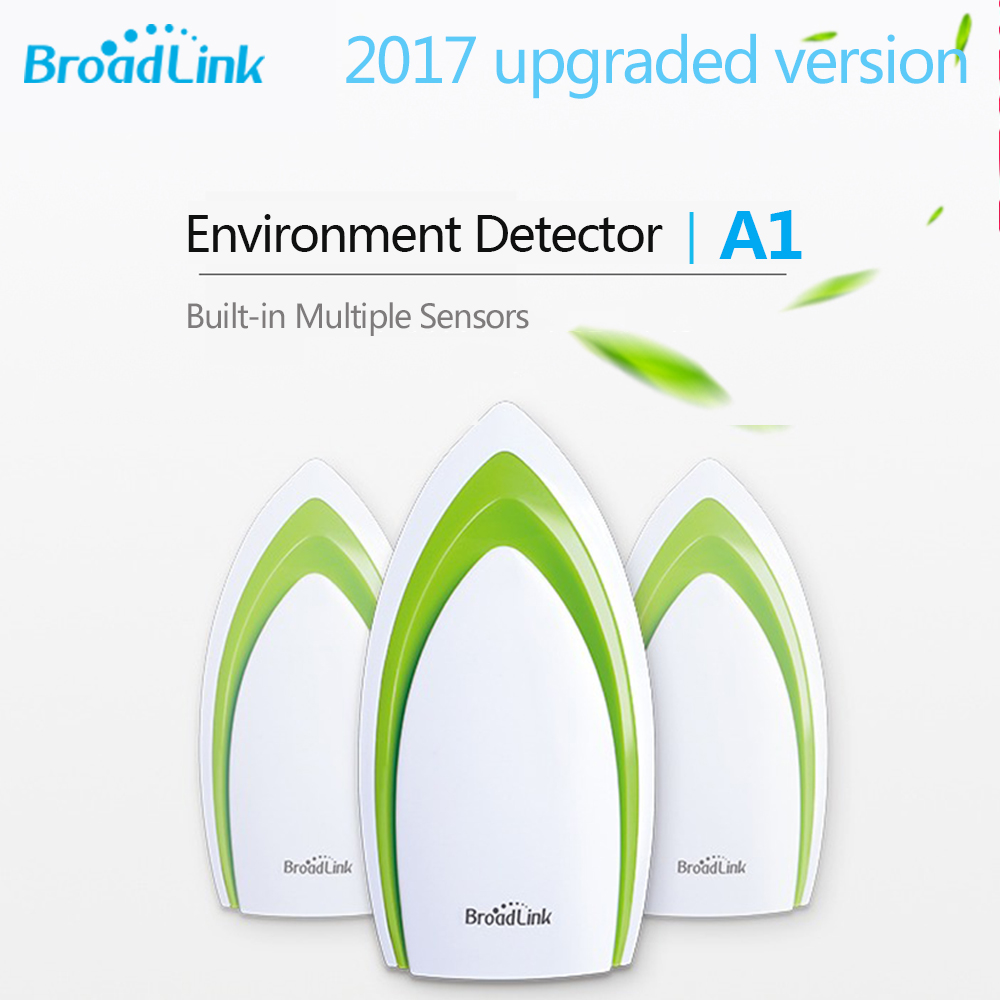 Broadlink A1 WIFI Air Quality Detector In-built Temperature Humidity Noise Sensor Smart Home Automation APP Remote Control цена