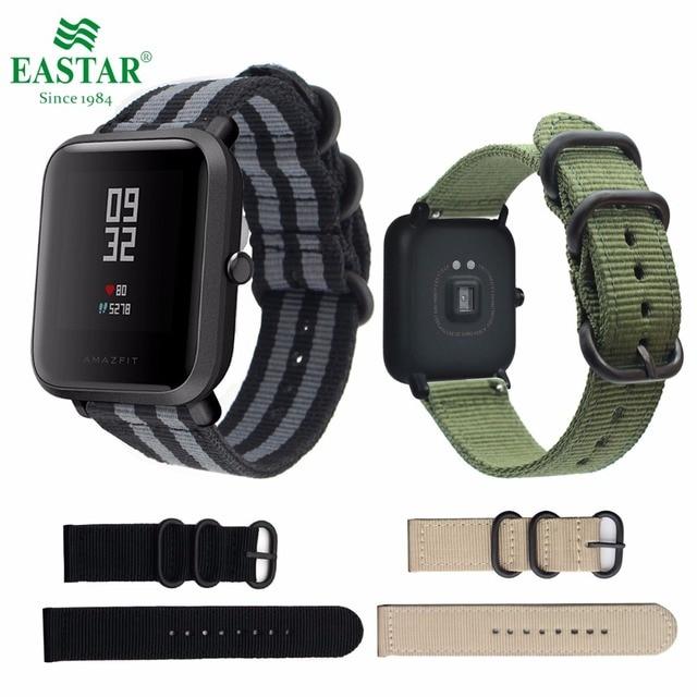 f7d4eeedf82 Eastar Colorido pulseira De Nylon para Xiaomi huami Amazônia Relógio  Inteligente Edição Juventude Bip POUCO RITMO