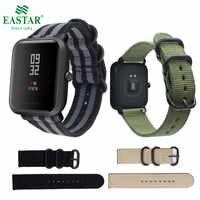 Eastar di Nylon Colorato wristband per Xiaomi huami Amazfit Astuto Della Vigilanza Edizione della Gioventù Bip BIT RITMO Lite fascia di forma fisica della cinghia del braccialetto
