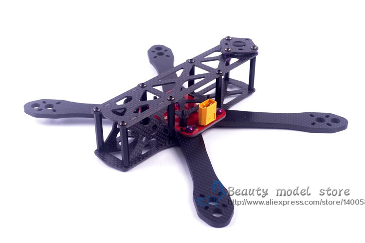 DIY mini drone Alien FPV cross racing quadcopter pure carbon fiber frame 225 4mm * 2mm * 2mm unassembled diy carbon fiber frame arm with motor protection mount for qav250 zmr250 fpv mini cross racing quadcopter drone