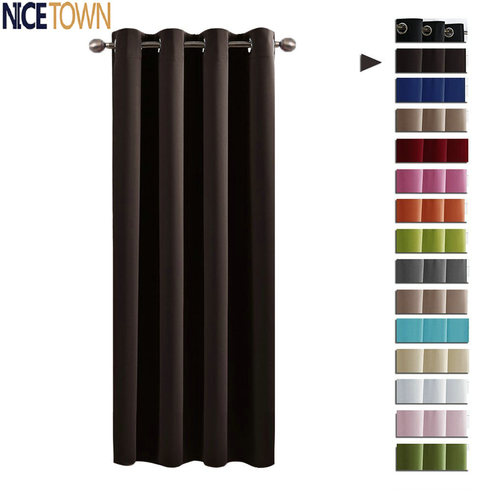 NICETOWN Blackout Window Curtains Drapes For Living Room Grommet Rod Pocket Hooks Top Spring Decorations Gift For Home Drapes