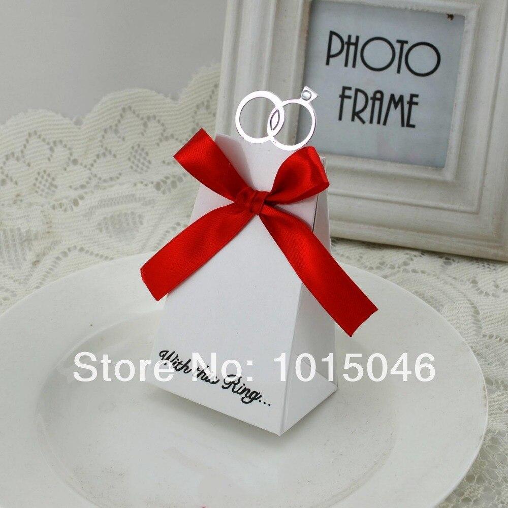 20 X European White Diamond Ring Candy Box Wedding Party Favours ...
