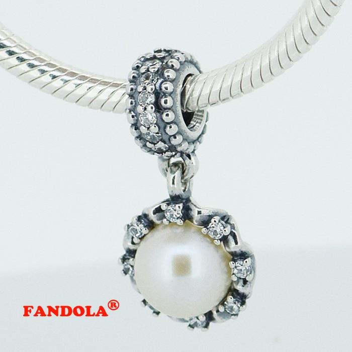 ⊹Аутентичные стерлингового серебра 925 Pearl Мотаться ...