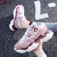 HQFZO High Quality Trainers Pantshoes Women's Platform Sneakers Women Shoes Breathable Casual Women Running Chunky Sneakers
