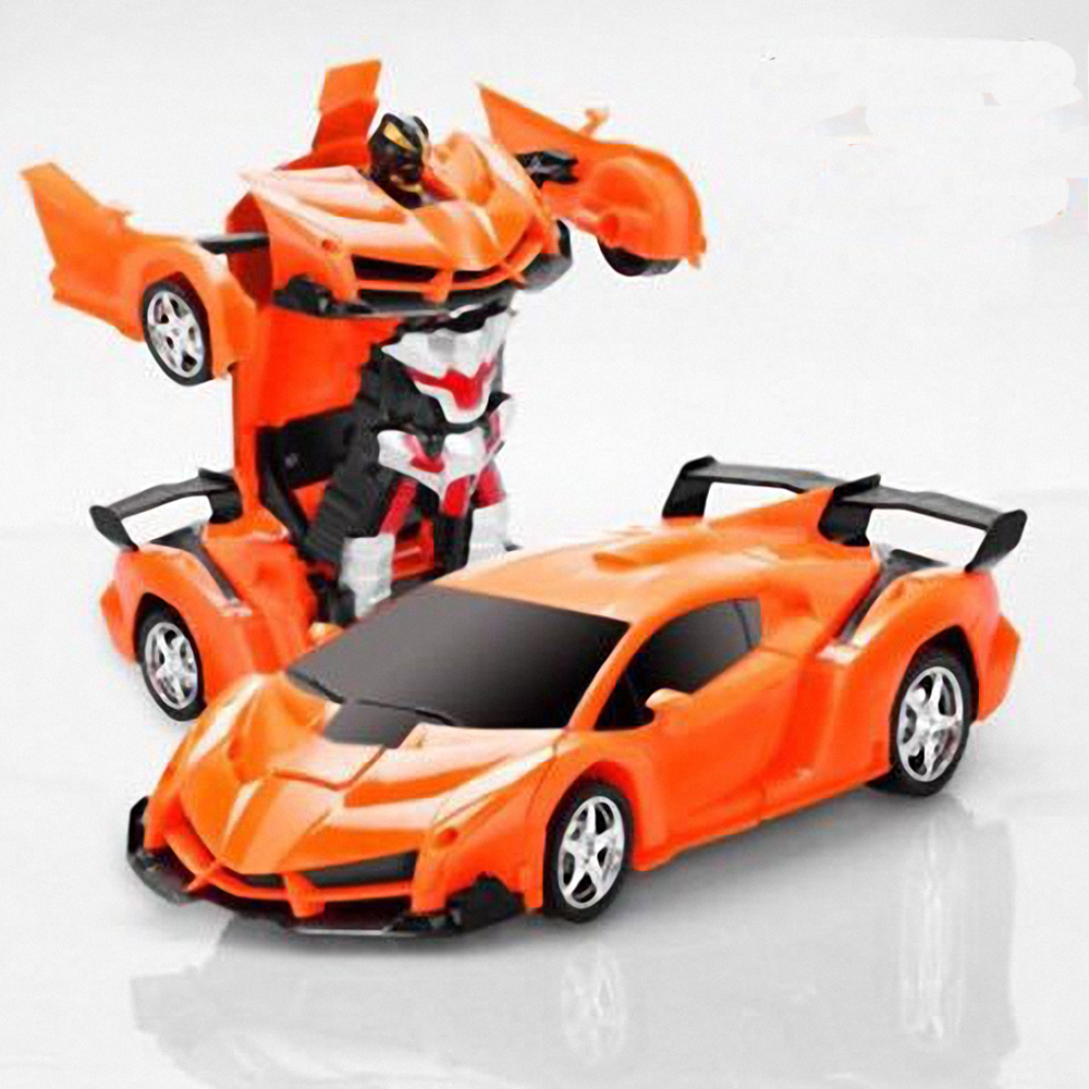 RC Car Transformation Robots Sports Vehicle Model  Robots Toys Cool Deformation Car Kids Toys  Gifts For Boys 2