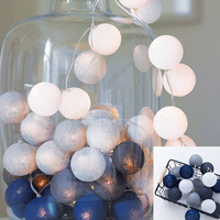 Fairy 4m LED Cotton Ball String Lights Curtain Garland Lamps Wedding Party Indoor Outdoor Christmas Holiday Lighting Luminarias