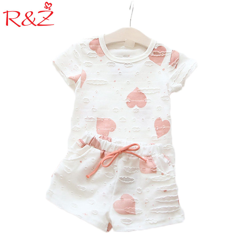 2017 new Casual Kids Clothing Baby Girls Clothes Sets