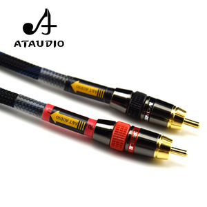 Image 5 - ATAUDIO Hifi RCA Cable High Quality 4N OFC HIFI 2RCA Male to Male Audio Cable