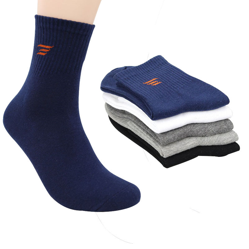 5pairs All Seasons Mens Business Casual Cotton Socks Spring Summer Autumn Winter Solid Color Crew Socks Male Socks Man Meia Sox