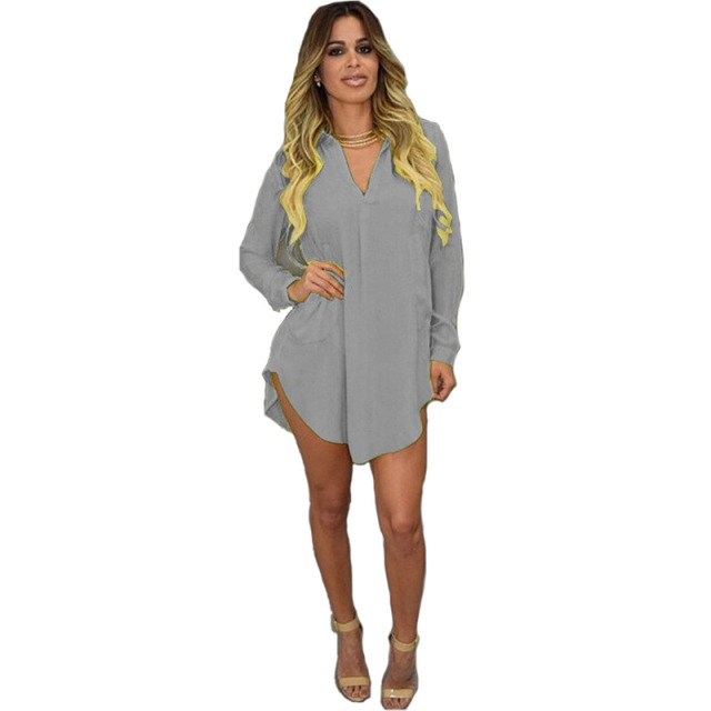 767436739c04cb OLN 2019 Women Plus Size Bodycon Dress Long Sleeve V-neck Sexy Ladies  Frocks Vestido