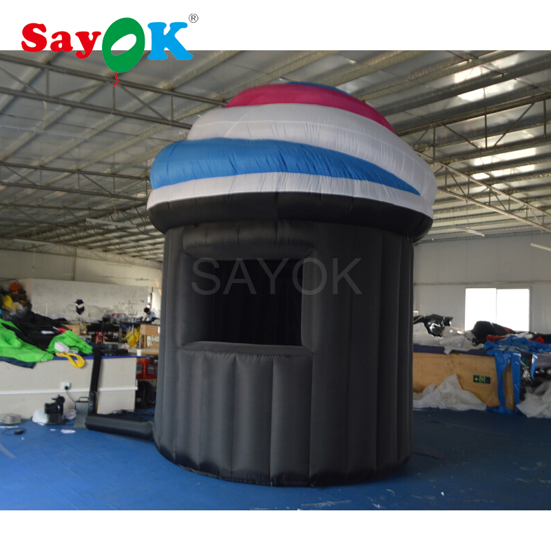 3.5mH Advertising inflatable kiosk ice cream booth inflatable ice cream stand for sale ...