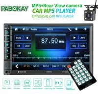 MP5 Auto Media Player Double Dins USB Bluetooth Audio Car Radio Multimidia MP5 12V FM HD 7 Touch Screen Stereo Radio