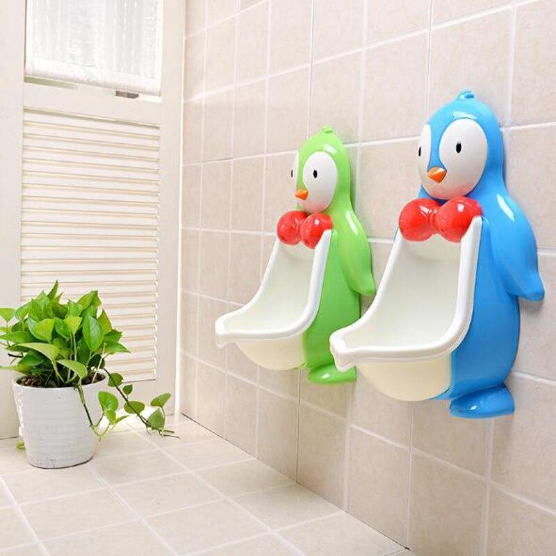 Ребенок туалет для детей милый пингвин Туалет Trainning горшок стенд для малышей настенный писсуары Портативный ребенок Туалет