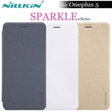 OnePlus 5 чехол Nillkin Sparkle Series искусственная кожа флип чехол для One Plus 5 A5000 с умным после сна 5.5 »Nilkin телефон Капа