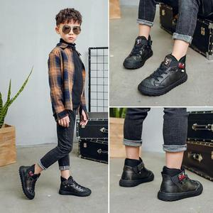 Image 5 - Children Genuine Leather Shoes For Boys Wedding Shoes Big Kids Cowhide Casual Sneakers Fashion Boys Loafers Moccasins Brand Shoe
