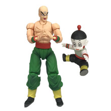 Anime Dragon Ball Z Figuarts SHF Movable Joint Shinhan & Chiaotzu Tien Tien Shinhan PVC Action Figure Modelo Toy Kids boneca 16 cm(China)