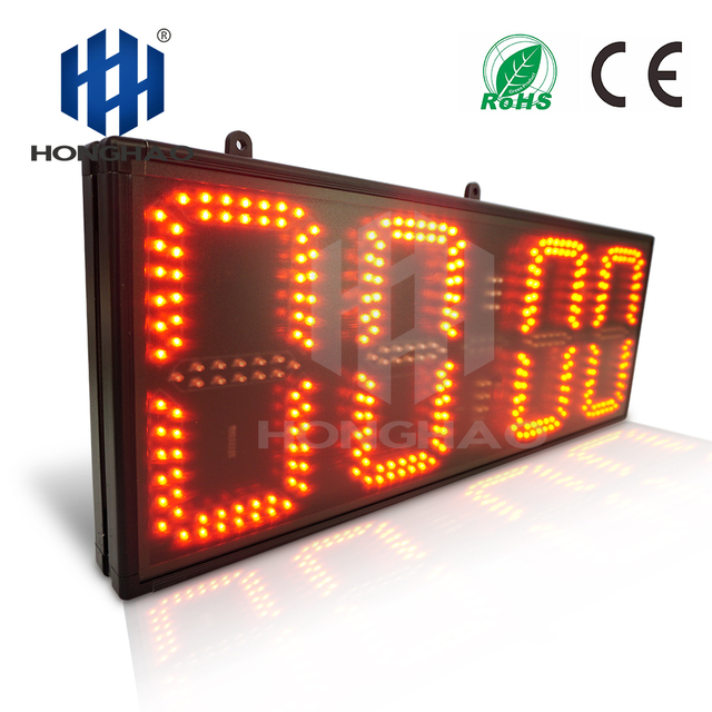 "Honghao 8"" 4 Digit Large Count Up Remote Control LED Countdown Timer"