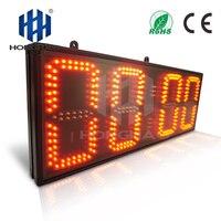 Honghao 8 4 цифры большие прикинь удаленного Управление светодио дный таймер обратного отсчета