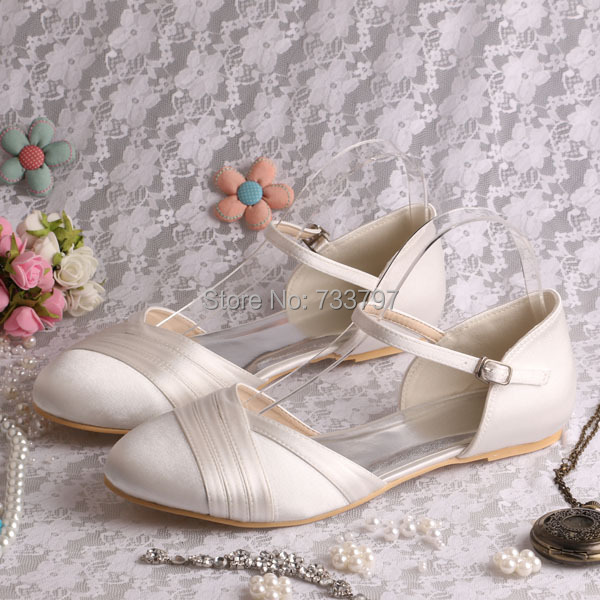 (20 Colors)Custom Handmade Mary Janes Wedding Bridal Shoes Sandals Closed Toe