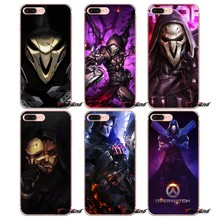 Para Samsung Galaxy S3 S4 S5 MINI S6 S7 borde S8 Plus nota 2 3 4 5 gran Core Prime funda blanda de TPU con póster de superwatch Reaper Hero(China)