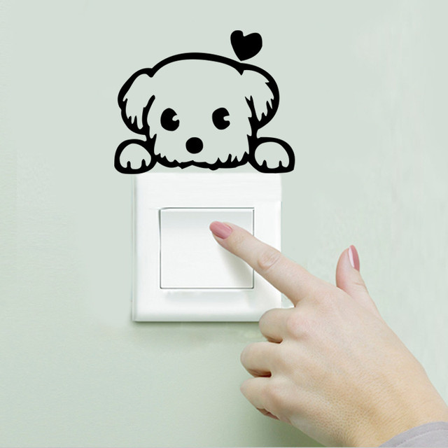 DIY Funny Animals Switch Wall Stickers