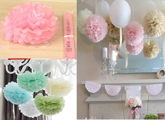 Aliexpress Com Buy 10cm 4 Inch Tissue Paper Flowers Pom