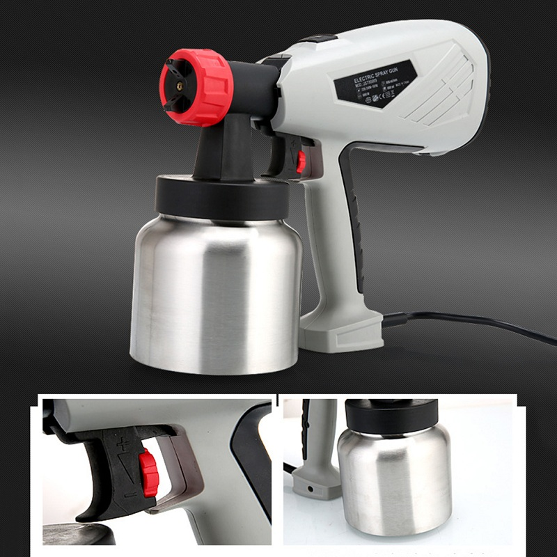 600W High Voltage Electric Spray Gun Paint Sprayer Cake Chocolate Sprayer with Adjustable Flow Control Power