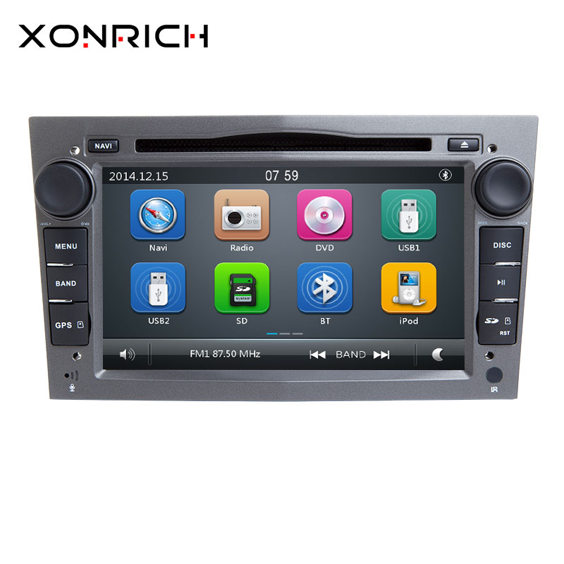 xonrich autoradio 2 din car dvd player for opel zafira b. Black Bedroom Furniture Sets. Home Design Ideas