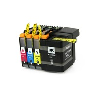 Full Ink 1Set 4 PCS Ink Cartridge LC12E LC12EXXL Printer For Brother MFC J6925DW With Chip