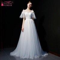 e302f00591 Vintage A Line Point Wedding Dresses Real Photos Off The Shoulder Vestidos  De Novia Trouwjurk Wedding