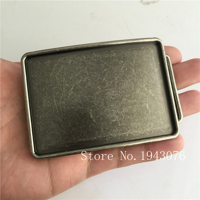 Retail New Rectangle Black blank DIY belt buckles For Men Jeans accessories Suitable 4cm/1.57in Wide Belt 89*64mm 57.9g Metal