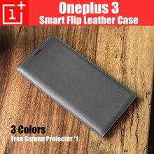 Oneplus 3 Т случай дождя A3010 смарт флип кожаный чехол назад случаях для oneplus3 на основе Сна/Пробуждения + Слот Для Карт Памяти oneplus 3 a3000