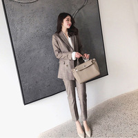 Set women's suit feet pants two piece 2018 autumn and winter new fashion small fragrance temperament wild women's clothes