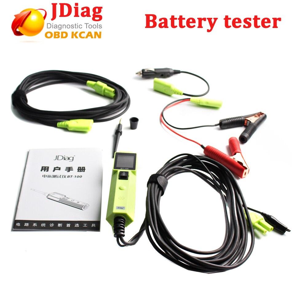 Testeur de batterie JDiag BT100 testeur de Circuit de système électrique BT100 avec outils automobiles tension automatique PK YD208 PT150 VSP200 OS260