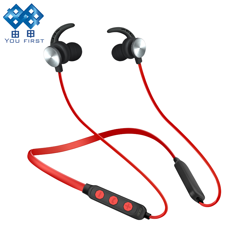 YOU FIRST Wireless Headphones Bluetooth Headset Sport Stereo Magnetic Earphone Bluetooth Auriculars With Microphone For Phone все цены