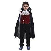 Halloween Kids Vampire Family Costumes Children Costume Boys Vampire Prince Count Cosplay Set Le Comte de Monte Cristo Clothing
