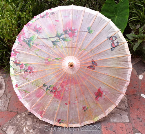 Dia 84cm Chinese Pink Peach Blossom Oilpaper Umbrella Japan Style Handmade Classical Parasol Wedding Cosplay Props Dance Umbrlla dia 84cm chinese handmade craft dreamlike butterfly oil paper umbrella cosplay drama props dance collection gift umbrella