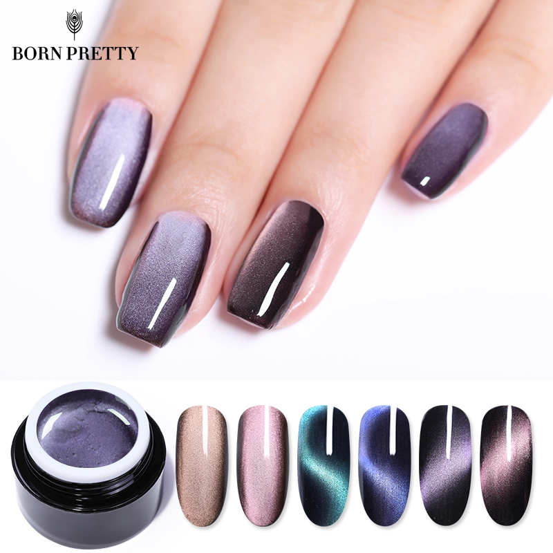 BORN PRETTY 5D Cat Eye Nail 5ml Magnetic Soak Off UV Gel Lacquers Starry Sky Jade