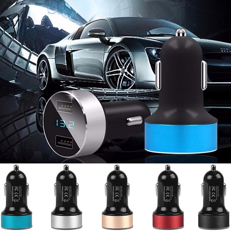 Автомобильное быстрое зарядное устройство двойной usb-авто зарядное устройство автомобильное зарядное устройство адаптивный телефон Универсальный адаптер напряжения