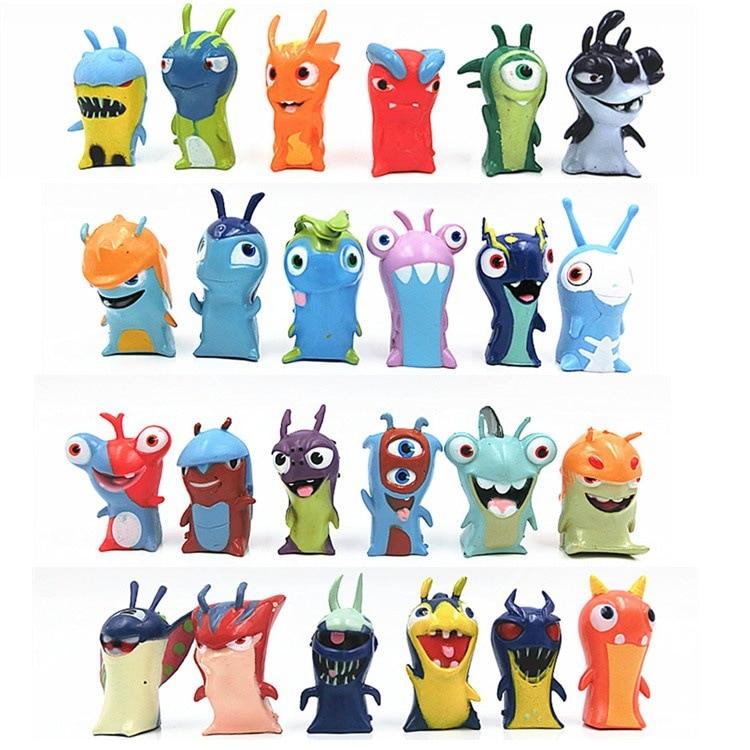 4pcs Slugterra Elemental Slugs Plush Toy Slug Terra Doll Kids