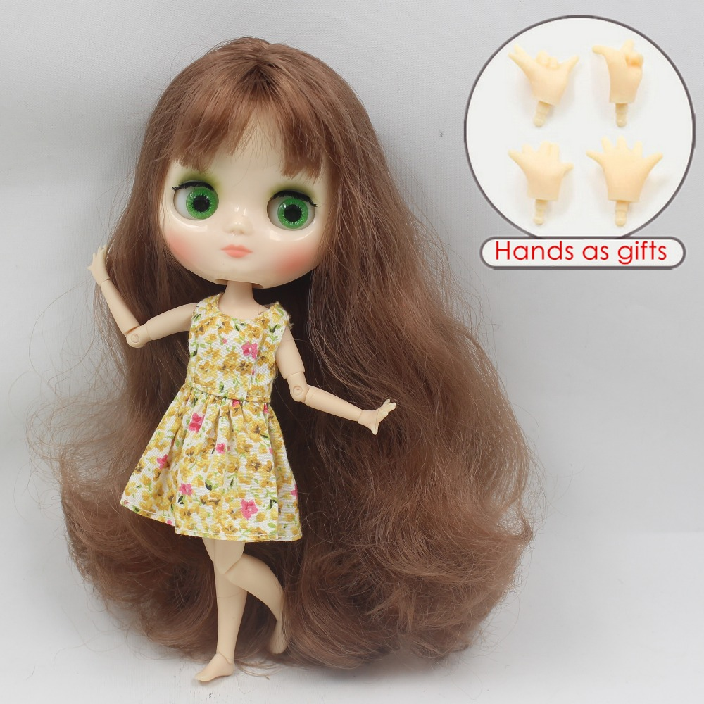 Free shipping middie doll BL9158 Brownie hair with bangs White skin joint body 1/8 20cm bjd gift toy neo цена и фото