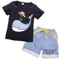 2016 NEW children clothing set stars boys set baby sets short t shirt+pants 2 pcs set clothes kids suit 2-7Years
