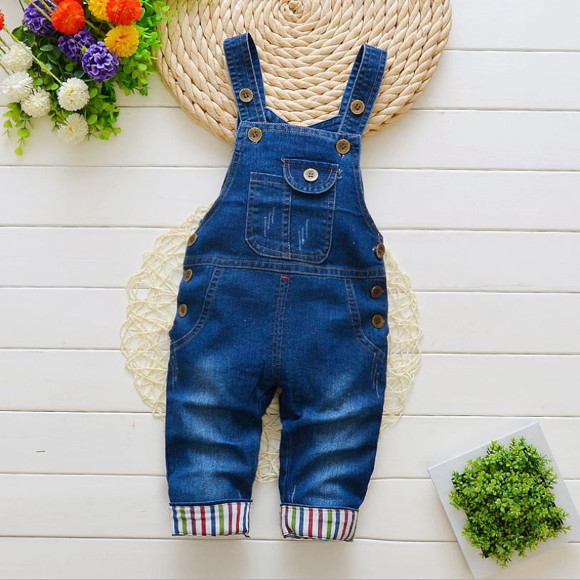 US Toddler Kids Baby Girls Boys Deinm Bib Pants Overalls Romper Clothes Outfits