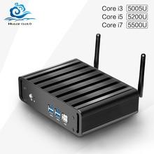 Hly новое ядро мини-компьютер i7 5500U i3 5005U i5 5200U Мини-ПК с 4 Гб оперативной памяти windows10 Tablet PC HTPC ТВ коробка USB3.0 Wi-Fi