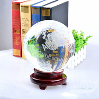 LS Quartz Crystal Globe 180mm Sphere ORB Ornament Home Decor Unique Gift With Stand
