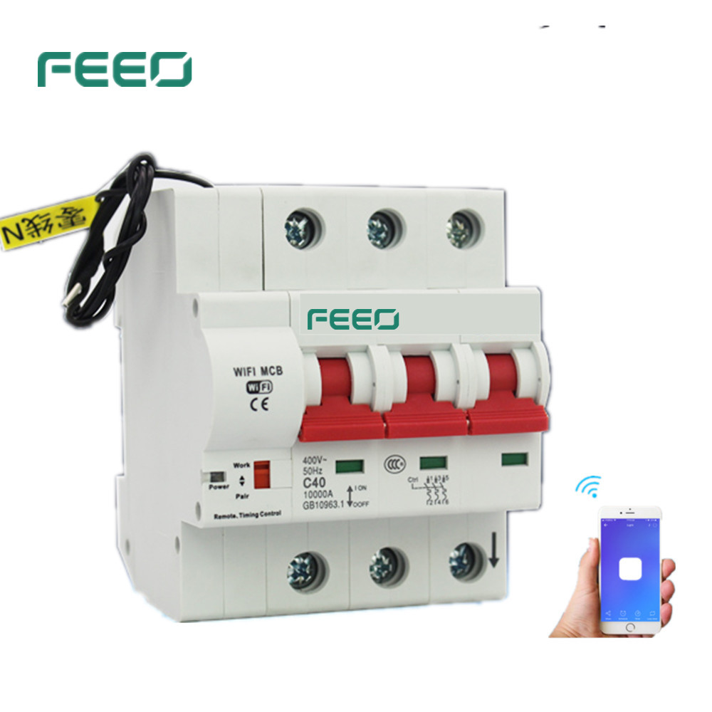 FEEO 3P 100/125A Remote control Wifi Circuit Breaker Intelligent Automatic Recloser overload short circuit protection