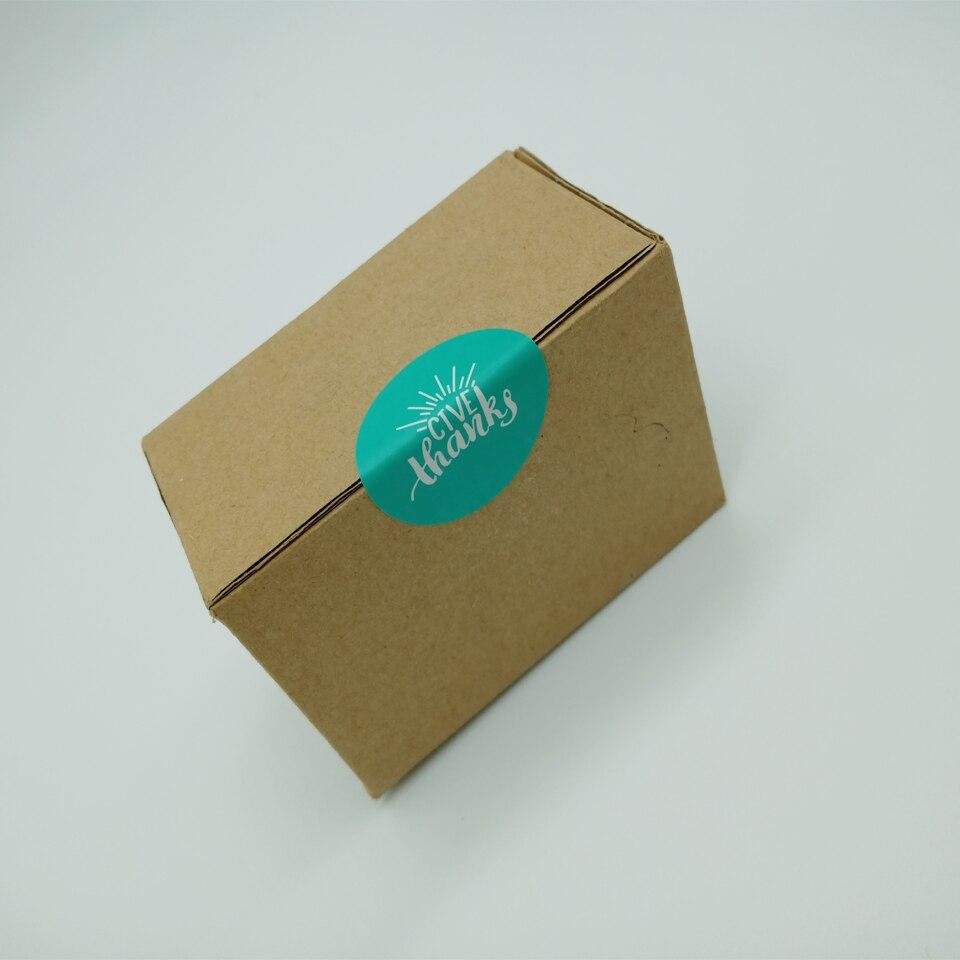 Купить с кэшбэком 90pcs/lot Simple Green And Orange Seal Sticker DIY Handmaking Envelope Gifts Box Baking Package Decoration Paper Self Stickers