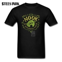 T Shirts Free Shipping Nook Neighbor S Club Youth Organnic Cotton Short Sleeve Tshirs Pop Male