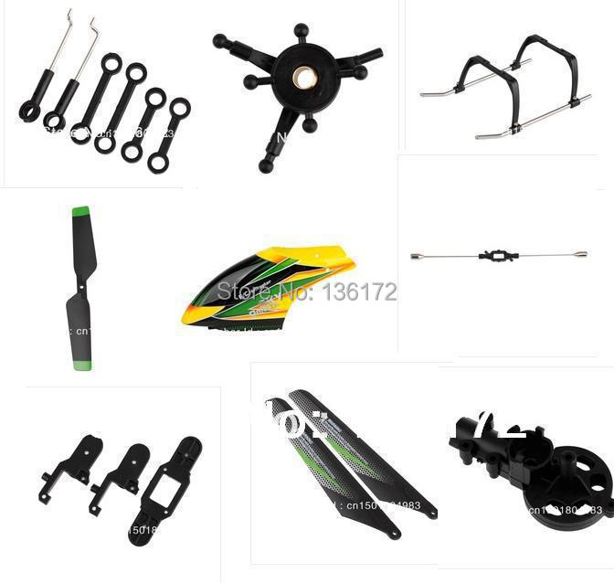 WL v912 2.4G RC helicopter spare parts kit, landing gear+canopies+main blade 17pcs/set free shipping free shipping dh 9053 parts gear blade clip balance bar for dh9053 rc helicopters spare parts